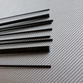 Jonc carbone de 2 mm en 100 cm