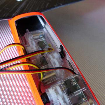 Hawk carbon déco red neon
