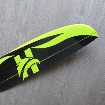 Hawk carbon déco jaune