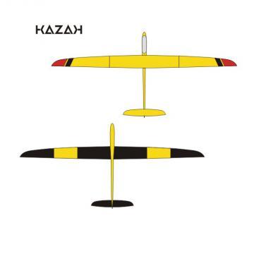 Pré - réservation KAZAK jaune déco noir/rouge