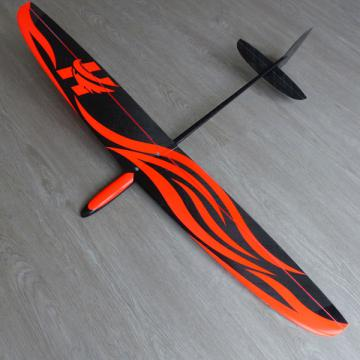 Hawk carbon déco red neon